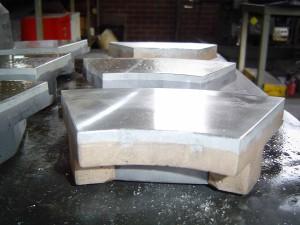 White Metal Thrust Pads